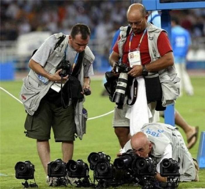 Спортивный фотограф.