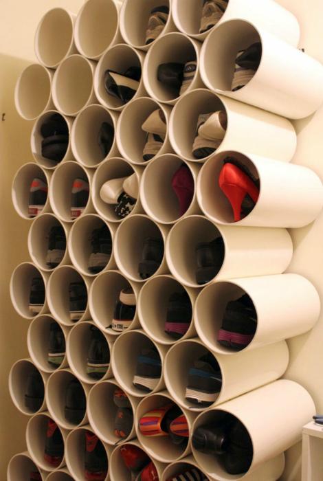 Органайзер из ПВХ-труб. | Фото: Kaifolog.ru.