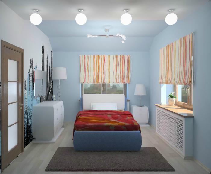 Освещение небольших комнат.