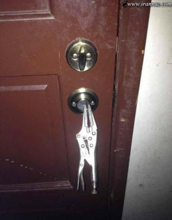 Дверная ручка.