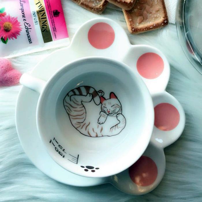 Комплект из чашки и блюдца. | Фото: Идеи вашего дома.
