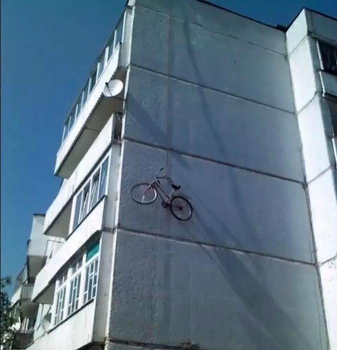 Велосипед в полной безопасности! | Фото: iFuun.