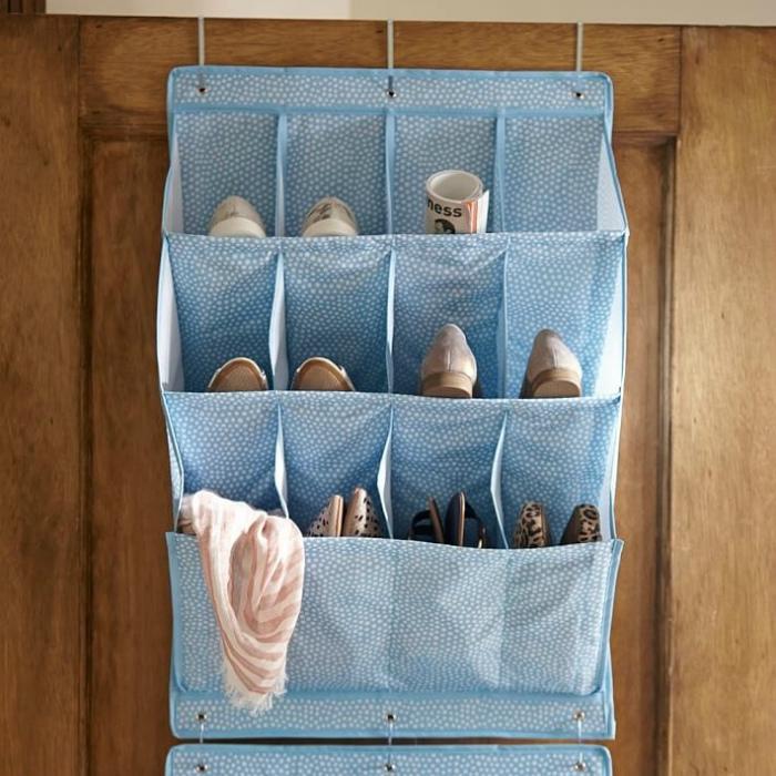Тряпичный органайзер для обуви. | Фото: archidea.com.ua.