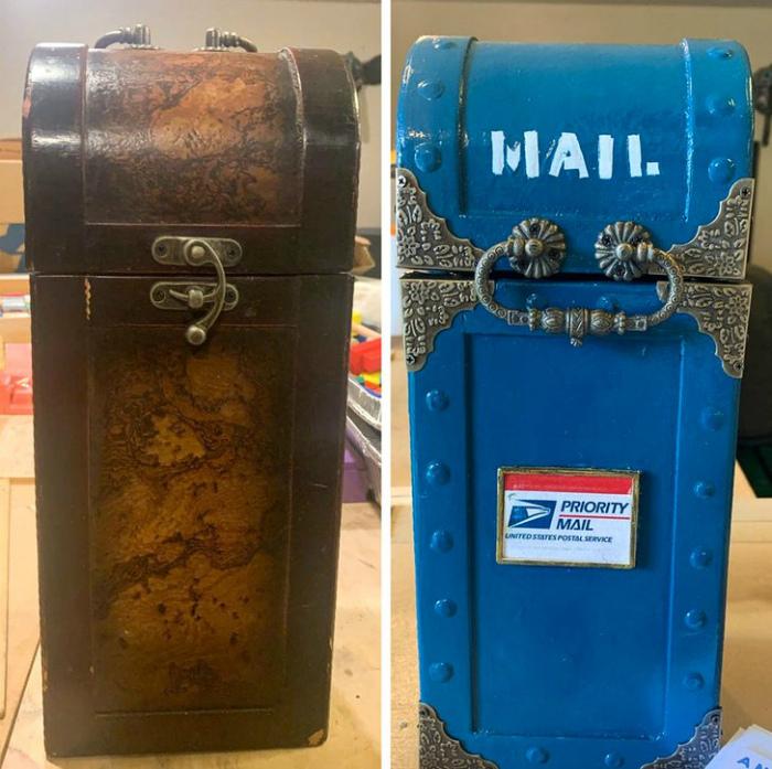 Яркое преображение почтового ящика.