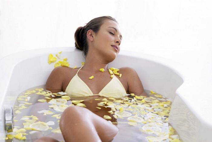 Розслаблююча ванна з гірчицею.