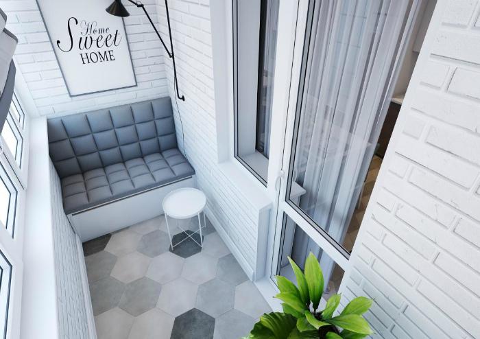 Классический балкон в белом цвете. | Фото: how-rem.ru.