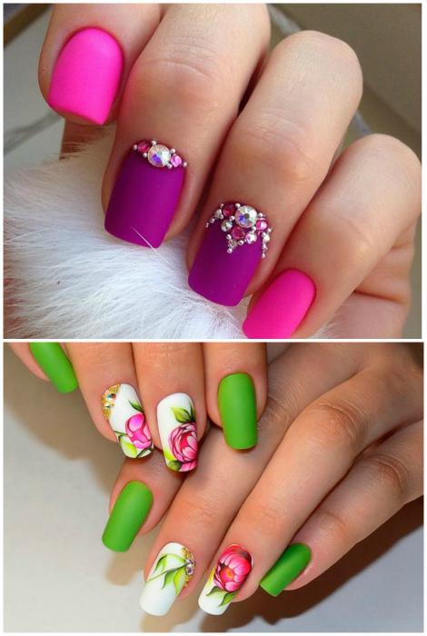Матовое покрытие ногтей.