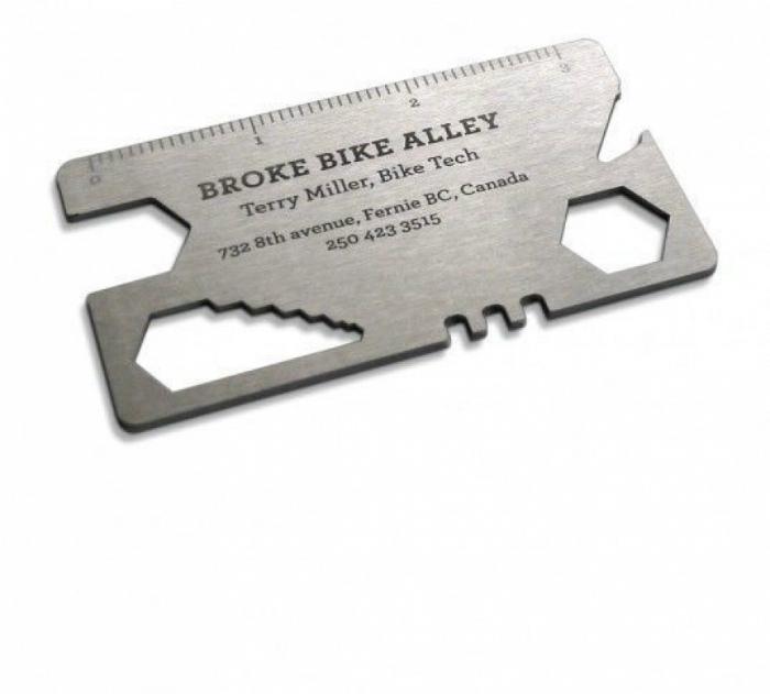 Визитная карточка мастерской для велосипедов.