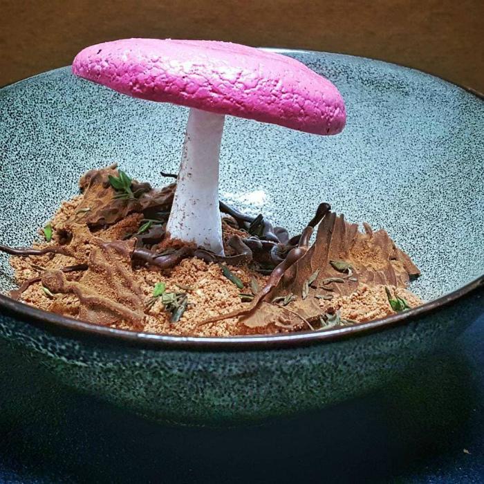 Десерт «Мухомор».