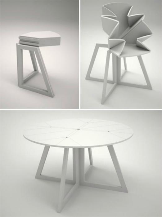 Раскладной круглый стол.