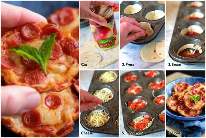 Крошечные пиццы. | Фото: LiveInternet