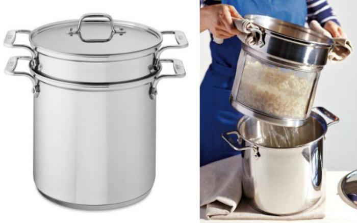 Кастрюля для приготовления спагетти, которая позволит без труда слить воду.