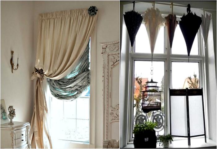 Оригинальные примеры использования штор.