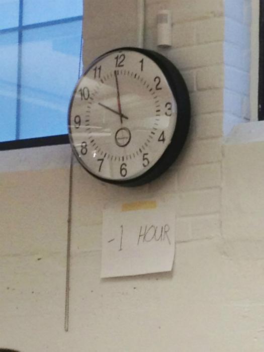 Перевод часов.