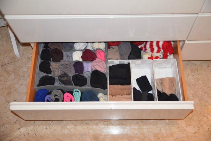 Приятный запах в шкафчиках.