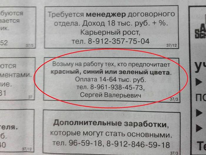 Требования к кандидатам.