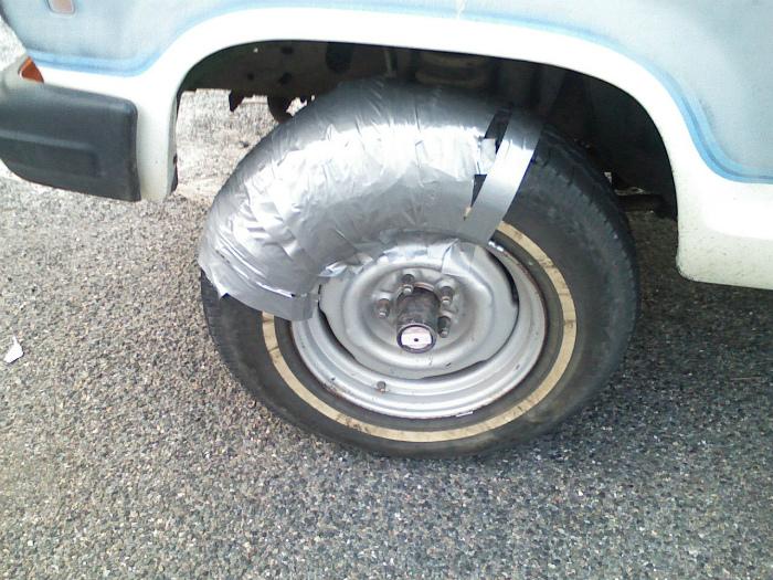Немного подлатал колесо.