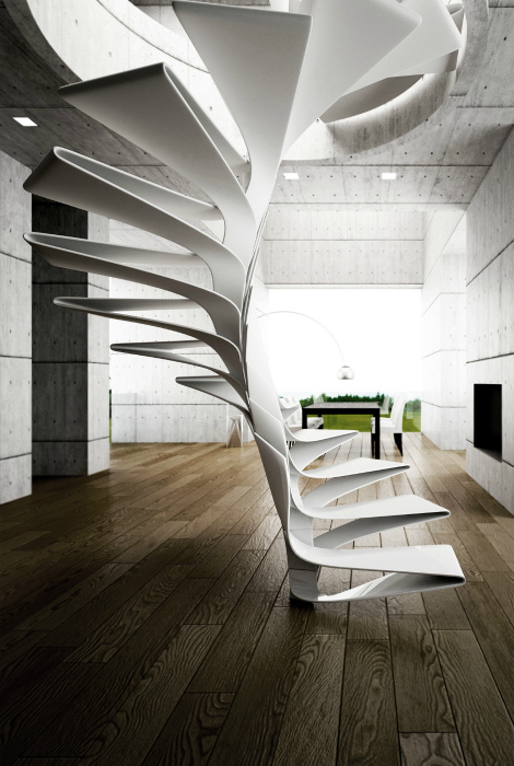 Небольшая зигзагообразная лестница.