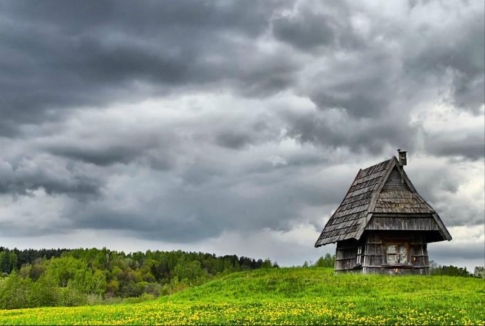 Маленький домик в Литве.