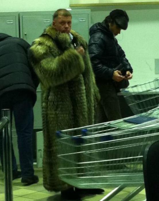 abrigo de pieles de lujo.