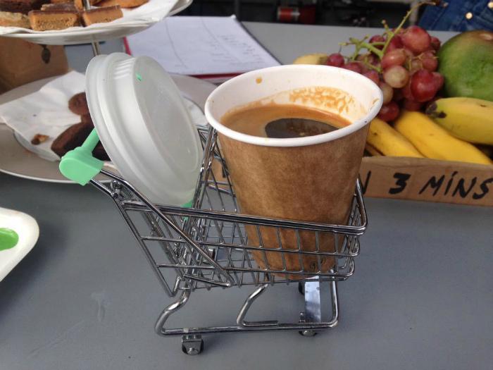 Очаровательная подача кофе.