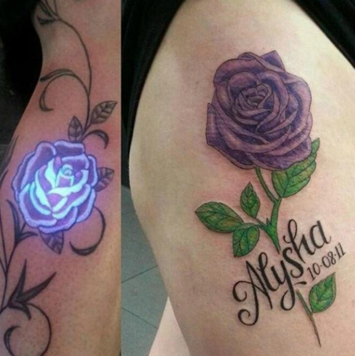 Татуировка с изображением розы.