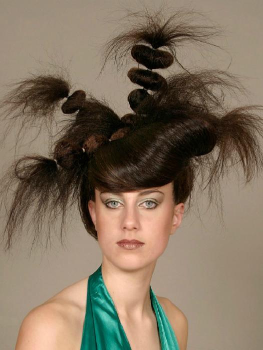 Сложная прическа из длинных волос.