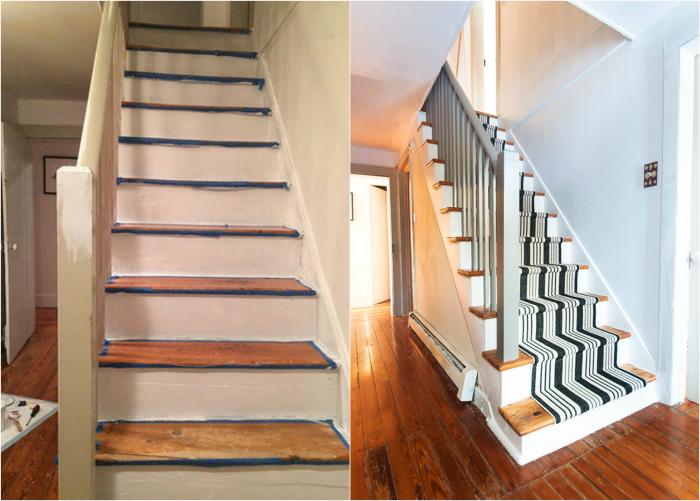 Покрытие лестницы.