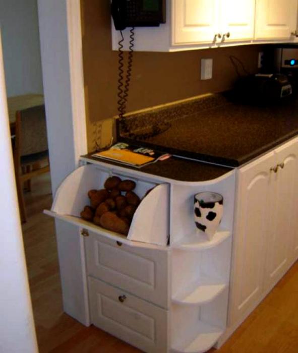 Боковой шкафчик в кухне. | Фото: bedroom ideas.