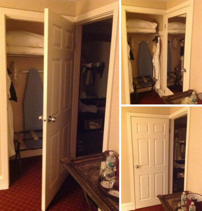 Два помещения - одна дверь.