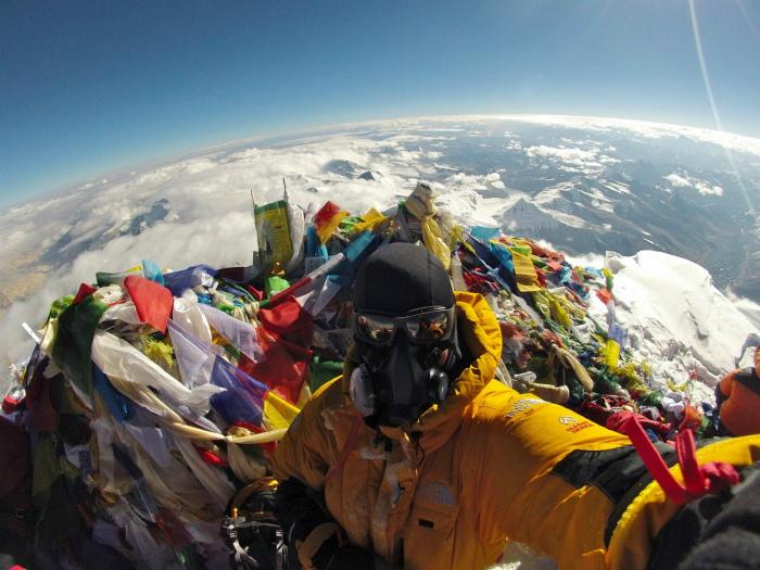 Вершина Эвереста.