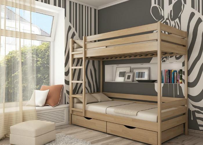 Сдержанный интерьер спальни для взрослых.
