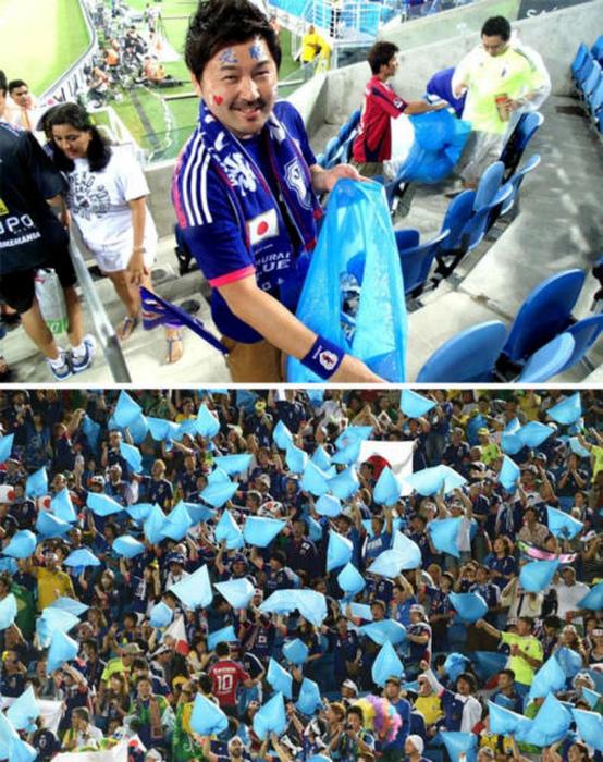 Уборка на стадионе.