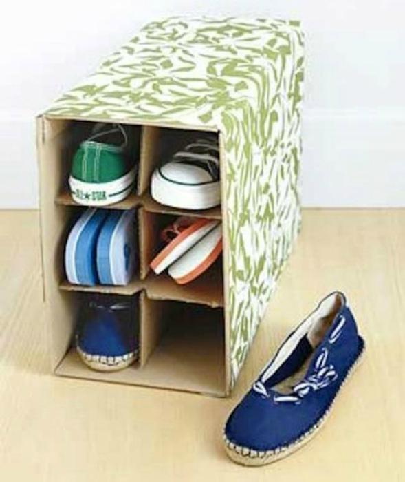 Маленький бокс для обуви. | Фото: Pinterest.