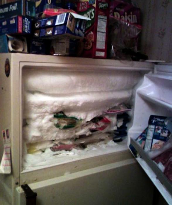 Морозильник.