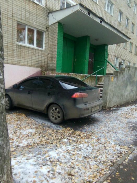 Наглая парковка.