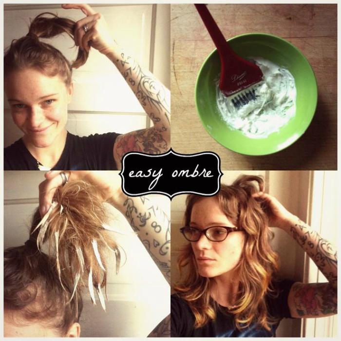 Окрашивание хвоста волос