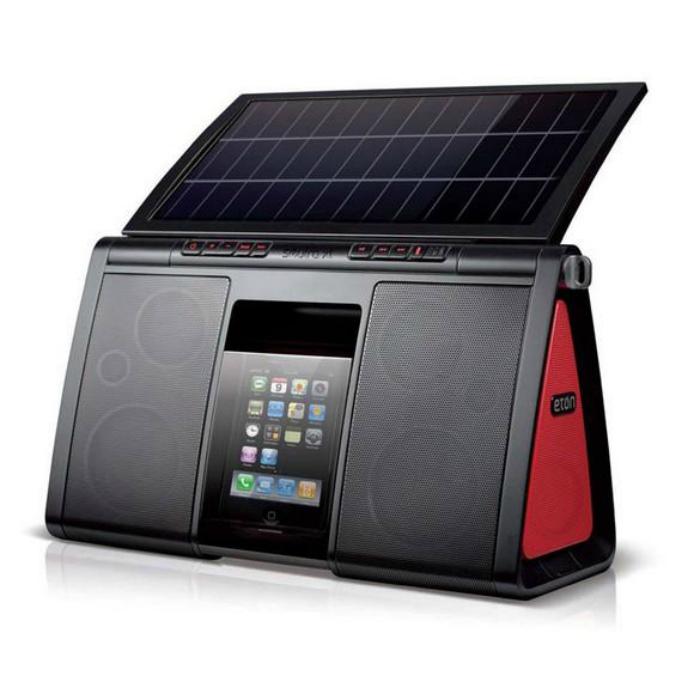 Акустическая система на солнечной батареи.