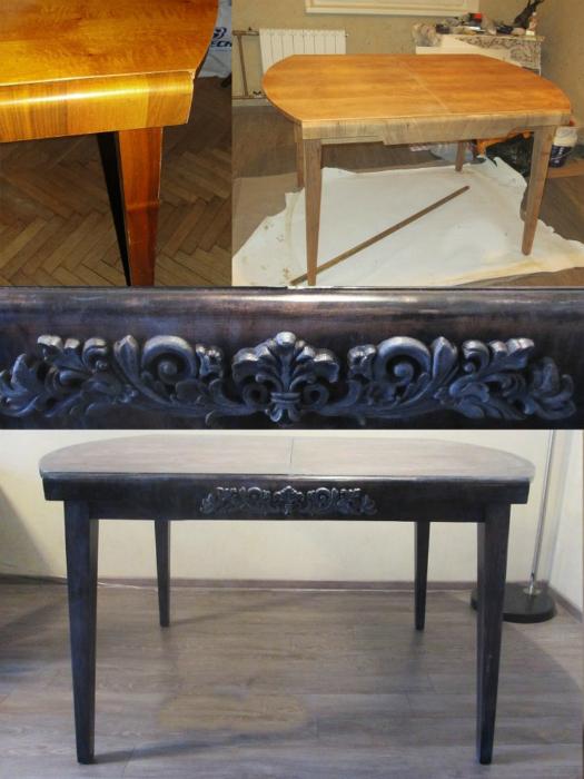 Стильный декор старого стола.