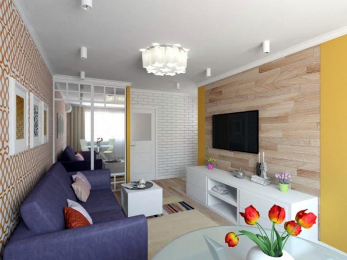 Стильный интерьер однокомнатной квартиры в хрущевке.