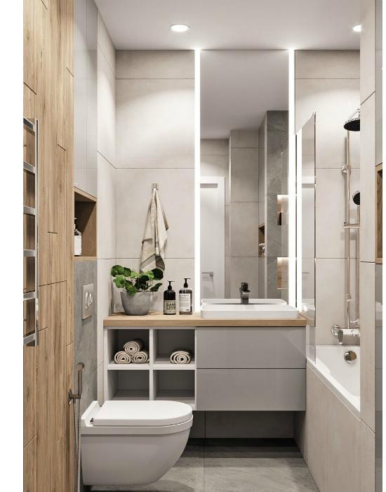 Стильная ванная комната в светлых тонах. | Фото: Pinterest.