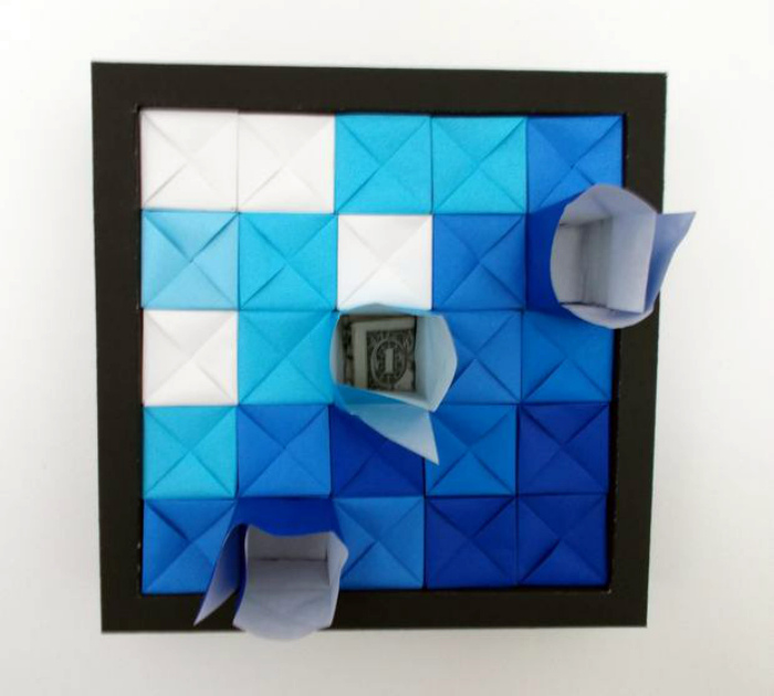 Панно из оригами.