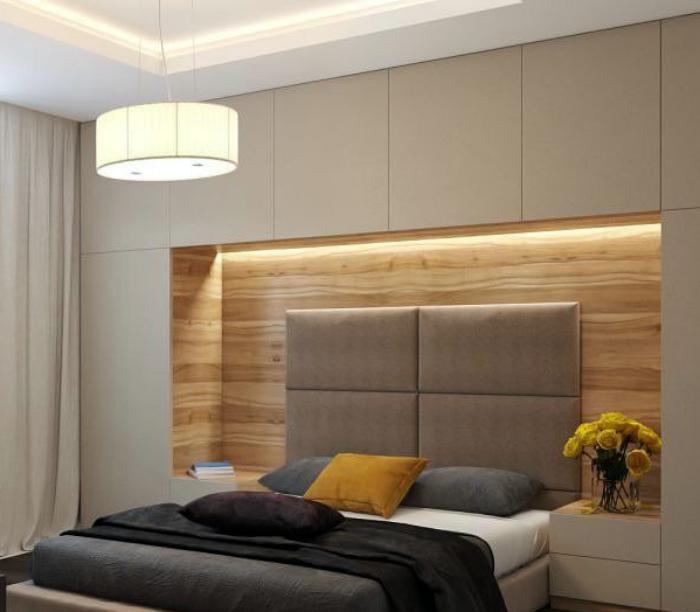 Кровать с функциональным шкафом.
