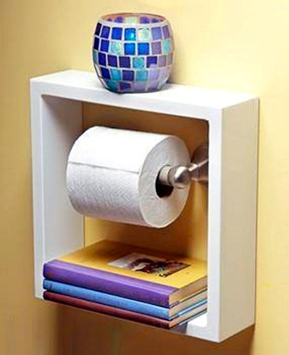 Функциональный держатель для туалетной бумаги.