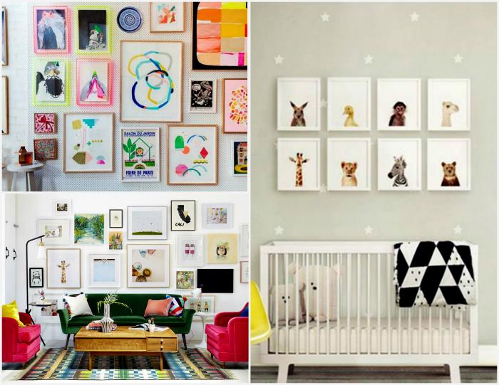 Картины на стене.