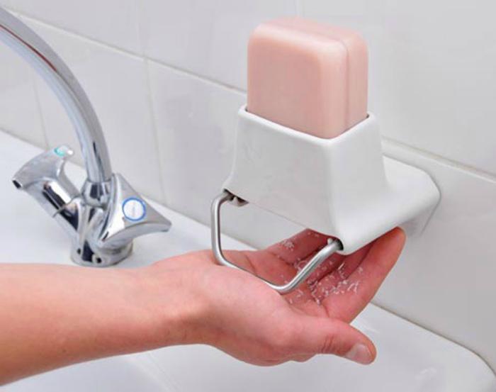 Подставка-измельчитель мыла.