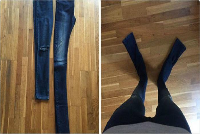 Аномально длинные штаны.
