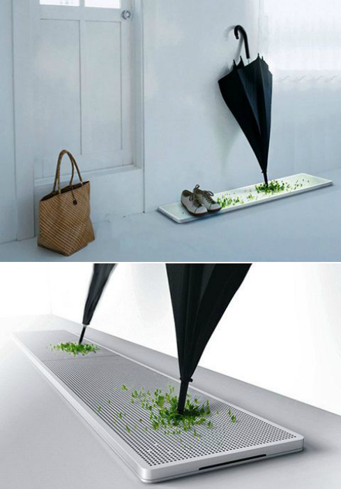 Подставка для сушки обуви и зонтов. | Фото: Twitter.