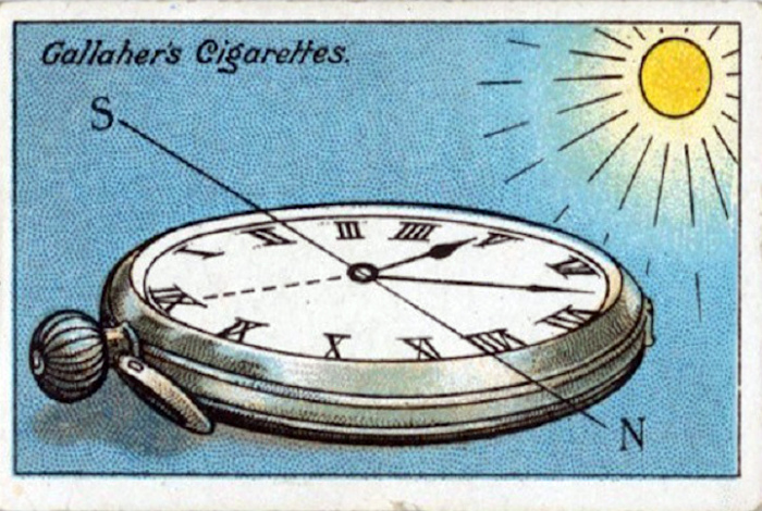 Превращение часов в компас.