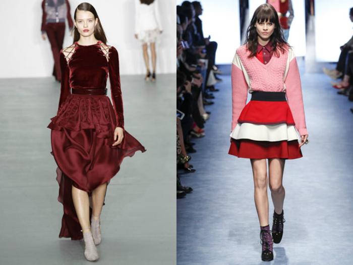 Модные многослойные юбки.